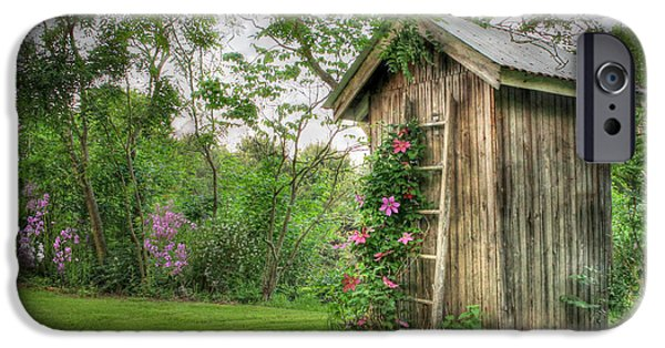 Bathroom iPhone Cases - Fragrant Outhouse iPhone Case by Lori Deiter