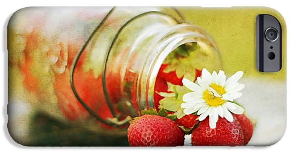 Berry iPhone Cases - Fraises iPhone Case by Darren Fisher