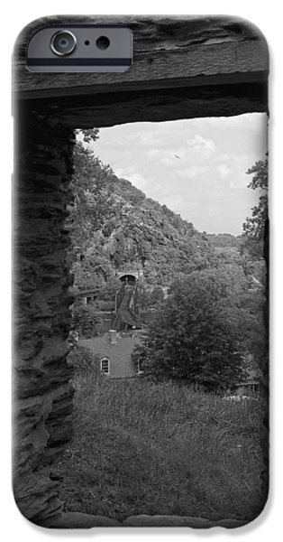 Jordan iPhone Cases - Framed Harpers Ferry iPhone Case by Mark Jordan