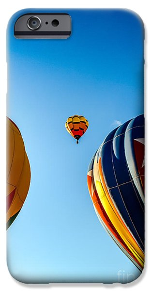 Colorado River Crossing iPhone Cases - Framed Hot Air Balloon iPhone Case by Robert Bales