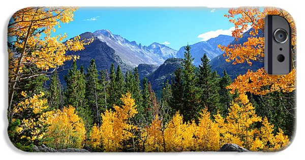 Fort Collins Photographs iPhone Cases - Framed in Gold iPhone Case by Tranquil Light  Photography