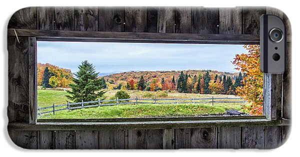 Recently Sold -  - Village iPhone Cases - Framed-Autumn in Vermont iPhone Case by John Vose