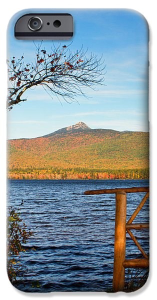 Mt Chocorua iPhone Cases - Framing Mt Chocorua iPhone Case by Shelle Ettelson