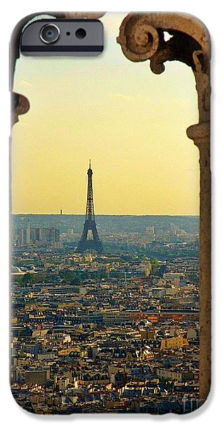 Malone iPhone Cases - Framing the Eiffel Tower iPhone Case by John Malone