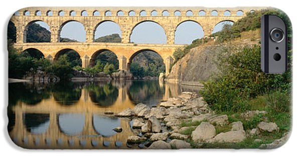 Languedoc iPhone Cases - France, Nimes, Pont Du Gard iPhone Case by Panoramic Images