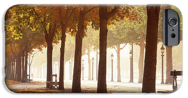 Shade Cover iPhone Cases - France, Paris, Champs Elysees iPhone Case by Panoramic Images