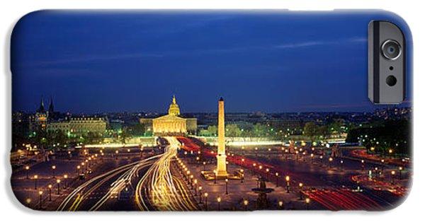 Concord iPhone Cases - France, Paris, Place De La Concorde iPhone Case by Panoramic Images