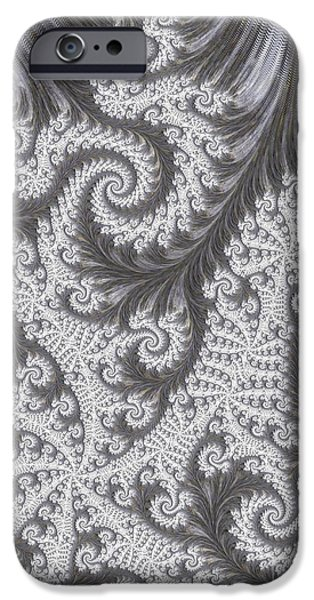 Geometric Effect iPhone Cases - Franciful Frost  iPhone Case by Heidi Smith