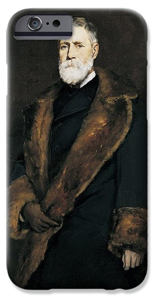 Francis iPhone Cases - Francis Boott, 1881 Oil On Canvas iPhone Case by Frank Duveneck
