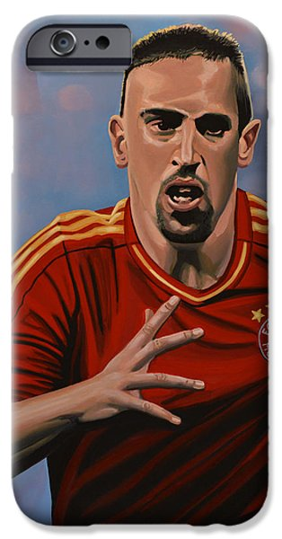 Running iPhone Cases - Franck Ribery iPhone Case by Paul Meijering