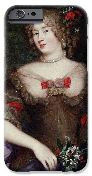 Voluptuous iPhone Cases - Francoise De Sevigne 1646-1705 Countess Of Grignan Oil On Canvas iPhone Case by Pierre Mignard