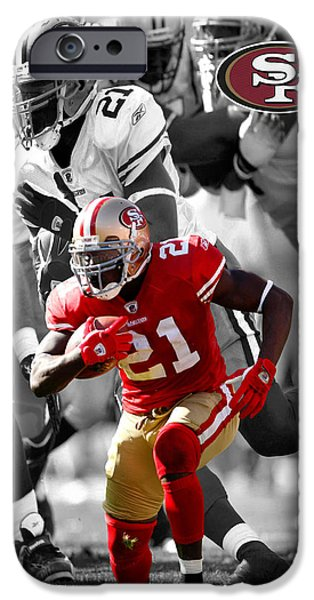 Gore iPhone Cases - Frank Gore 49ers iPhone Case by Joe Hamilton