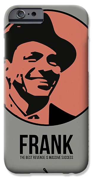Frank Sinatra iPhone Cases - Frank Poster 1 iPhone Case by Naxart Studio
