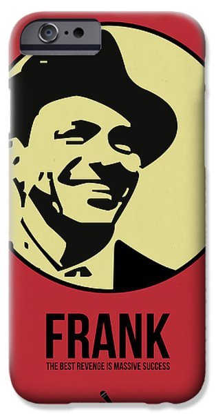 Frank Sinatra iPhone Cases - Frank Poster 2 iPhone Case by Naxart Studio
