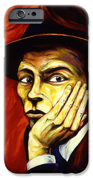 Frank Sinatra Paintings iPhone Cases - Frank Sinatra iPhone Case by Cardell Walker