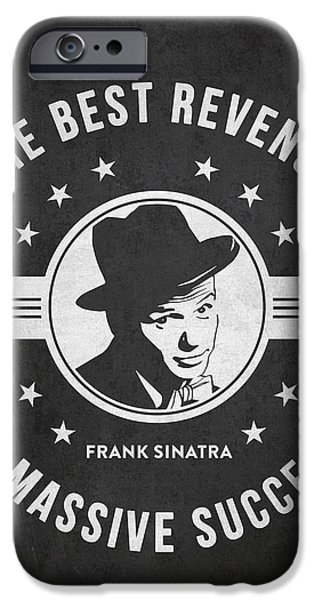 Frank Sinatra iPhone Cases - Frank Sinatra - Dark iPhone Case by Aged Pixel