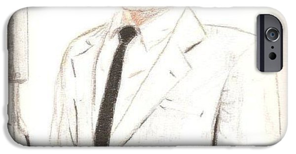 Frank Sinatra Paintings iPhone Cases - Frank Sinatra iPhone Case by Denise Railey