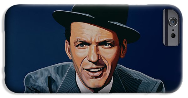 Run iPhone Cases - Frank Sinatra iPhone Case by Paul Meijering