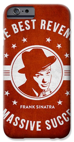 Frank Sinatra iPhone Cases - Frank Sinatra - Red iPhone Case by Aged Pixel