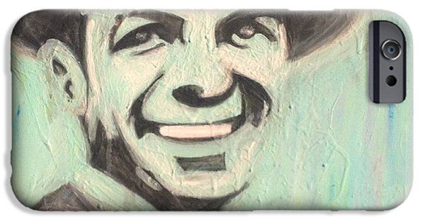 Frank Sinatra Paintings iPhone Cases - Frank Sinatra iPhone Case by Sydney Warwick