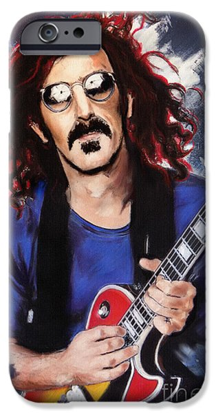 Electronic iPhone Cases - Frank Zappa iPhone Case by Melanie D