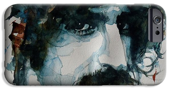 Photo Paintings iPhone Cases - Frank Zappa iPhone Case by Paul Lovering