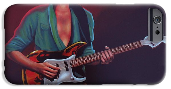 Paul Meijering iPhone Cases - Frank Zappa iPhone Case by Paul  Meijering