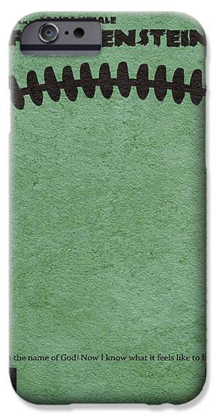 Original Pastels iPhone Cases - Frankenstein iPhone Case by Ayse Deniz