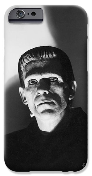Movie Scene iPhone Cases - Frankenstein iPhone Case by MMG Archive Prints
