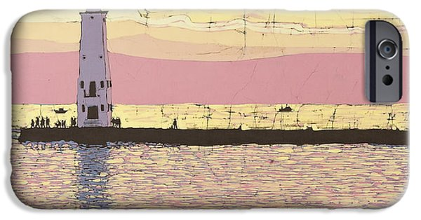 Transportation Tapestries - Textiles iPhone Cases - Frankfort Pier iPhone Case by Terri Haugen