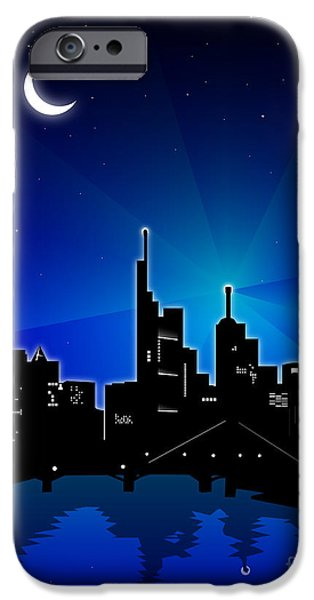 Finance iPhone Cases - Frankfurt am Main iPhone Case by Sandra Hoefer