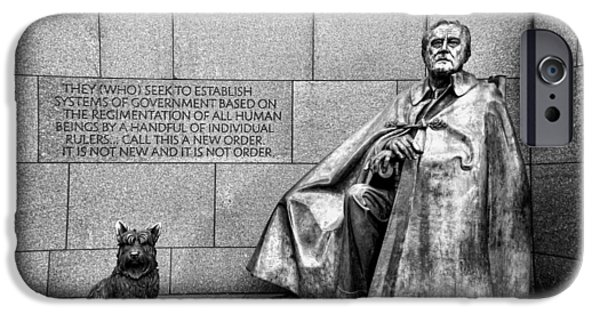 Americans Elect iPhone Cases - Franklin Delano Roosevelt Memorial iPhone Case by Allen Beatty