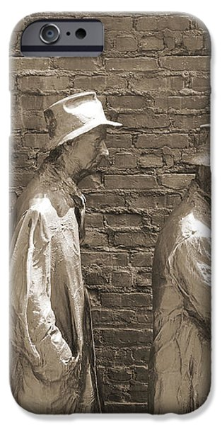 Franklin Delano Roosevelt Memorial - Bits and Pieces1 iPhone Case by Mike McGlothlen
