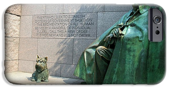 States iPhone Cases - Franklin Delano Roosevelt National Memorial iPhone Case by Cora Wandel
