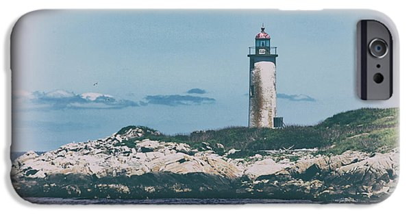 Franklin iPhone Cases - Franklin Island LIghthouse iPhone Case by Karol  Livote