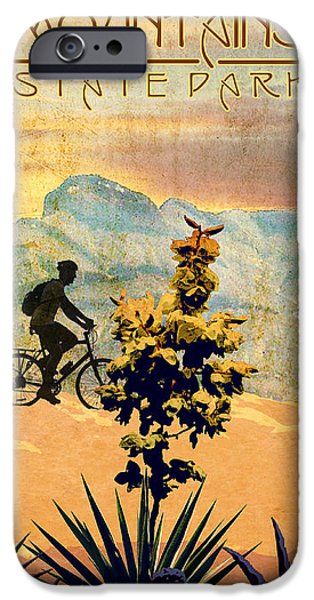 Franklin Digital Art iPhone Cases - Franklin Mountains State Park iPhone Case by Jim Sanders