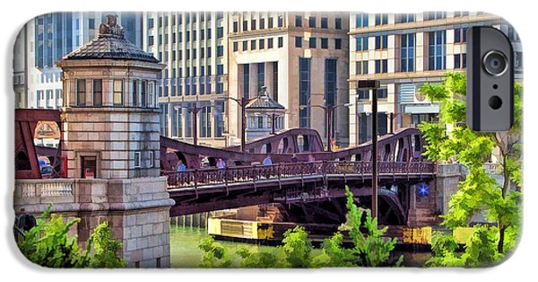Franklin iPhone Cases - Franklin Street Bridge iPhone Case by Christopher Arndt