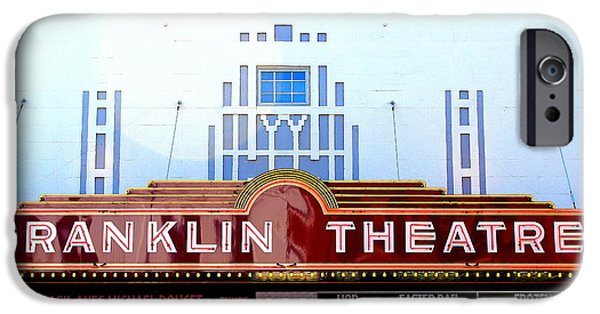 Historic Downtown Franklin iPhone Cases - Franklin Theatre iPhone Case by Anthony Jones