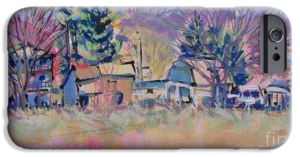 Shed Drawings iPhone Cases - Franklintown Frisk iPhone Case by Larry Lerew