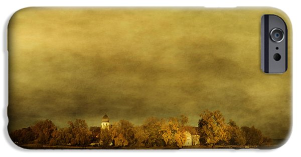 Haze Pyrography iPhone Cases - Frauenchiemsee iPhone Case by manhART