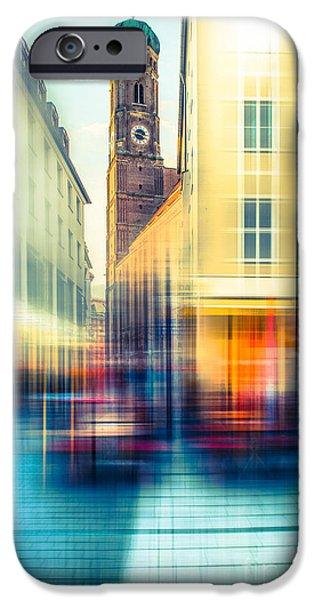 Frauenkirche - Munich V - vintage iPhone Case by Hannes Cmarits