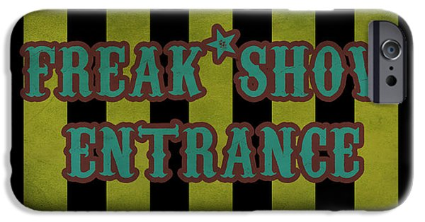 Recently Sold -  - Strange iPhone Cases - Freak Show Entrance iPhone Case by Jera Sky