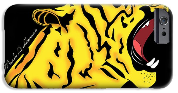 The Tiger iPhone Cases - Freak Tiger  iPhone Case by Mark Ashkenazi