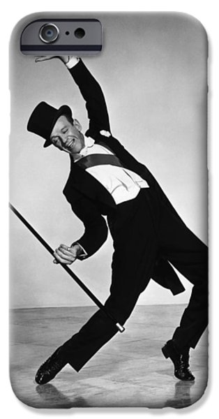 Red Carpet iPhone Cases - Fred Astaire iPhone Case by Nomad Art And  Design