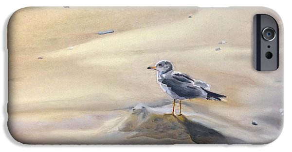 Seagull Pastels iPhone Cases - Fred iPhone Case by Janine Ferranti