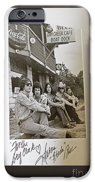 Autographed iPhone Cases - Freda and the Firedogs - Autographed Vintage Photo iPhone Case by John Stephens