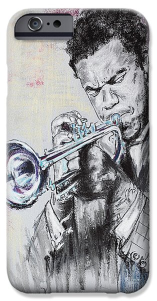 Music Pastels iPhone Cases - Freddie Hubbard iPhone Case by Melanie D
