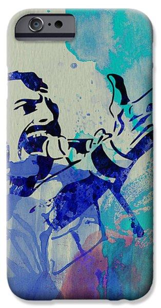 Stage iPhone Cases - Freddie Mercury Queen iPhone Case by Naxart Studio
