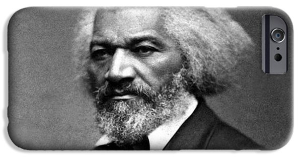 Frederick Douglass iPhone Cases - Frederick Douglass Born Slave circa 1879 iPhone Case by David Call
