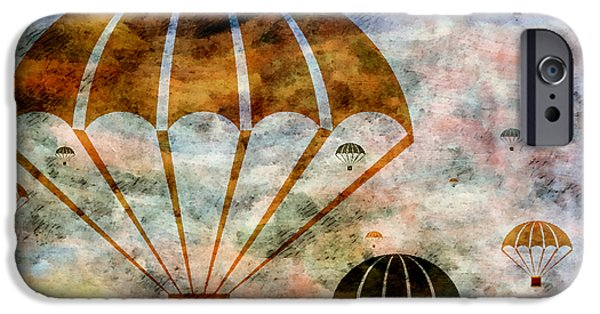 Free Mixed Media iPhone Cases - Free Falling iPhone Case by Angelina Vick